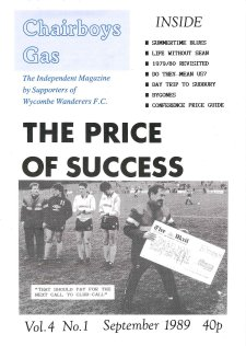Chairboys Gas - Cover Issue 1 - Season 1989-90