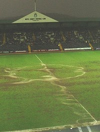 The Meadow Lane swamp on the Wednesday - picture Paul Lewis